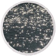 Round Beach Towel featuring the photograph Shining Water by Maciek Froncisz