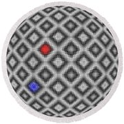 Round Beach Towel featuring the digital art Sphere Number 10 by George Pedro