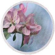 Spring Blossoms For The Cure Round Beach Towel