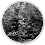 Round Beach Towel featuring the photograph Spring Creek by Kathleen Grace
