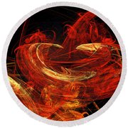St Louis Abstract Round Beach Towel