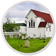 St. Luke's Church In Placentia Newfoundland Round Beach Towel