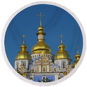 Round Beach Towel featuring the photograph St. Michael's Cathedral by David Gleeson
