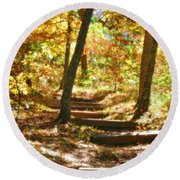 Round Beach Towel featuring the photograph Stairway To Heaven by Peggy Franz