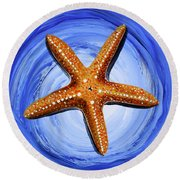 Star Of Mary Round Beach Towel