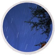 Round Beach Towel featuring the photograph Stars Falling by Kay Lovingood