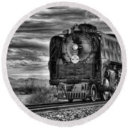 Steam Train No 844 - Iv Round Beach Towel