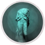 Still Life - Robed Figure Round Beach Towel