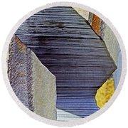 Stone Geometrics Round Beach Towel