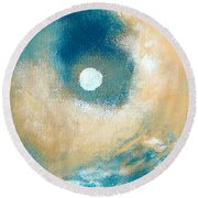 Round Beach Towel featuring the painting Storm by Ana Maria Edulescu