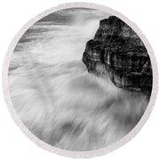 Round Beach Towel featuring the photograph Stormy Sea 1 by Pedro Cardona