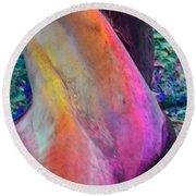 Round Beach Towel featuring the digital art Stretch by Richard Laeton