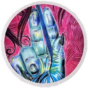 Strokes Of My Soul...  The Life Of An Artist Round Beach Towel