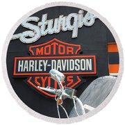 Sturgis Harley Store Round Beach Towel