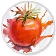 Stylized Illustration Of Tomato Round Beach Towel