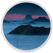 Subtle Bliss Round Beach Towel by Mark Kiver