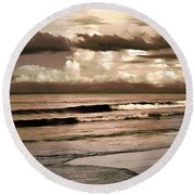 Round Beach Towel featuring the photograph Summer Afternoon At The Beach by Steven Sparks