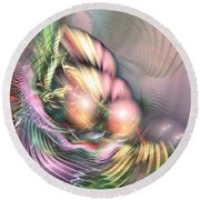 Summer Breeze -abstract Art Round Beach Towel