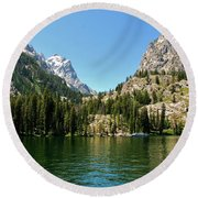 Summer Day At Jenny Lake Round Beach Towel by Dany Lison