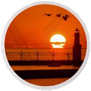 Summer Escape Round Beach Towel by Bill Pevlor
