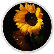 Sunflowers Round Beach Towel by Dorothy Cunningham
