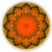 Round Beach Towel featuring the digital art Sunny I by Richard Ortolano