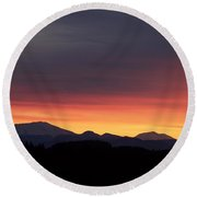 Round Beach Towel featuring the photograph Sunrise 3 by Chalet Roome-Rigdon