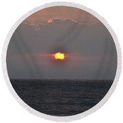 Sunrise In Melbourne Fla Round Beach Towel