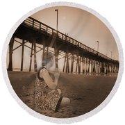 Sunrise Meditation Round Beach Towel