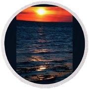 Sunset Denmark Samsoe Island Round Beach Towel