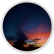 Sunset Leeward Oahu Round Beach Towel