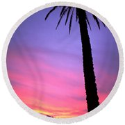 Round Beach Towel featuring the photograph Sunset by Luciano Mortula