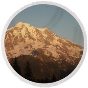 Sunset On The Mountain Round Beach Towel