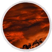 Round Beach Towel featuring the photograph Sunset Over Altoona by DigiArt Diaries by Vicky B Fuller