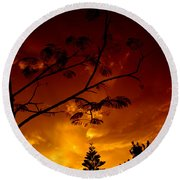 Sunset Over Florida Round Beach Towel