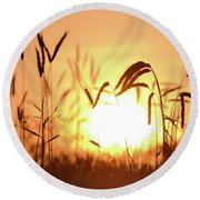 Sunset Rye IIi Round Beach Towel