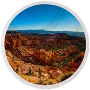 Sunset Sunrise Round Beach Towel