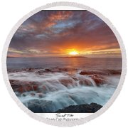 Sunset Tides - Cemlyn Round Beach Towel
