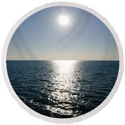 Sunshine Over The Mediterranean Sea Round Beach Towel