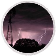 Super Storm Round Beach Towel