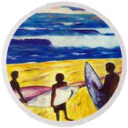 Surf's Up Round Beach Towel
