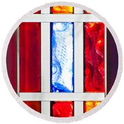 Surrounded By Color Round Beach Towel