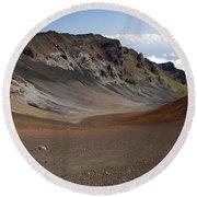 Sweeping Haleakala Crater Round Beach Towel