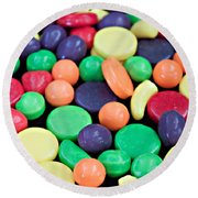 Round Beach Towel featuring the photograph Sweet Candy Galore  by Sherry Hallemeier