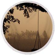 Swing In The Fog Round Beach Towel by Cheryl Baxter