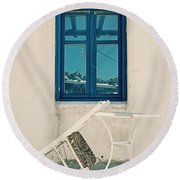 Table And Chair Round Beach Towel
