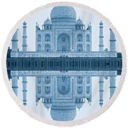 Round Beach Towel featuring the photograph Taj Mahal by Luciano Mortula