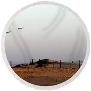 Takeoff Round Beach Towel