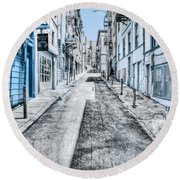 Telegraph Hill Blue Round Beach Towel