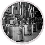Round Beach Towel featuring the photograph Tequilera S.s. Distillation Tanks by Lynn Palmer